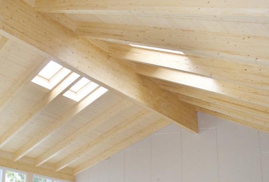Konstruktionsvollholz (KVH) als Deckenverkleidung | HolzLand Stoellger in Langenhagen
