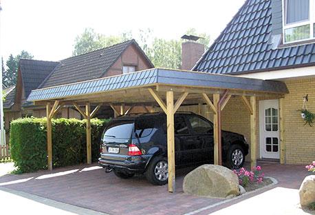 Carport mit Ziegeln | HolzLand Stoellger in Langenhagen