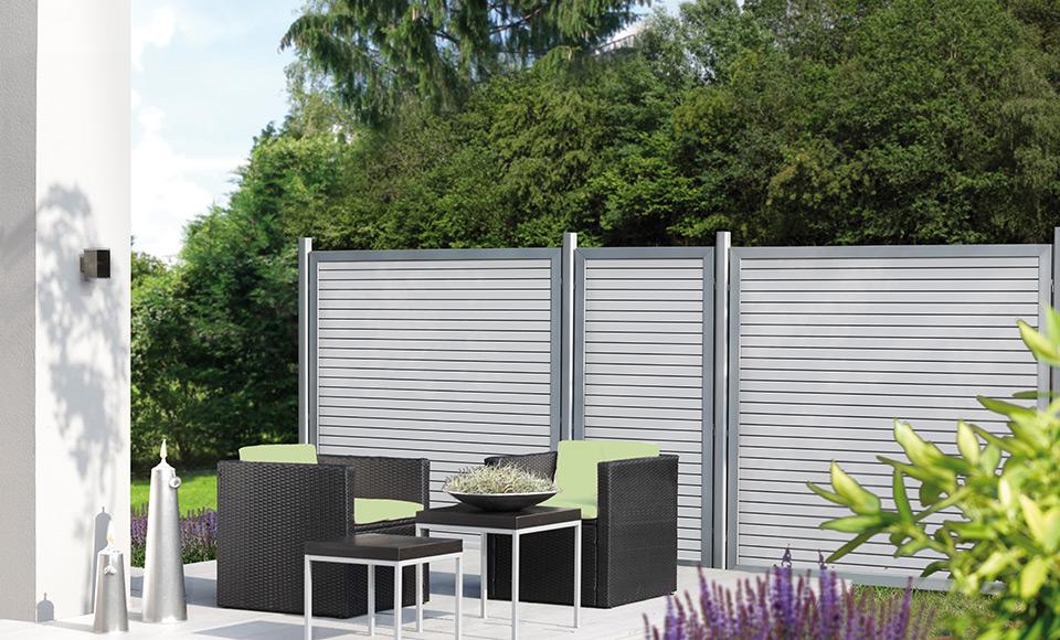 Sichtschutz aus Metallprofilen | HolzLand Stoellger in Langenhagen