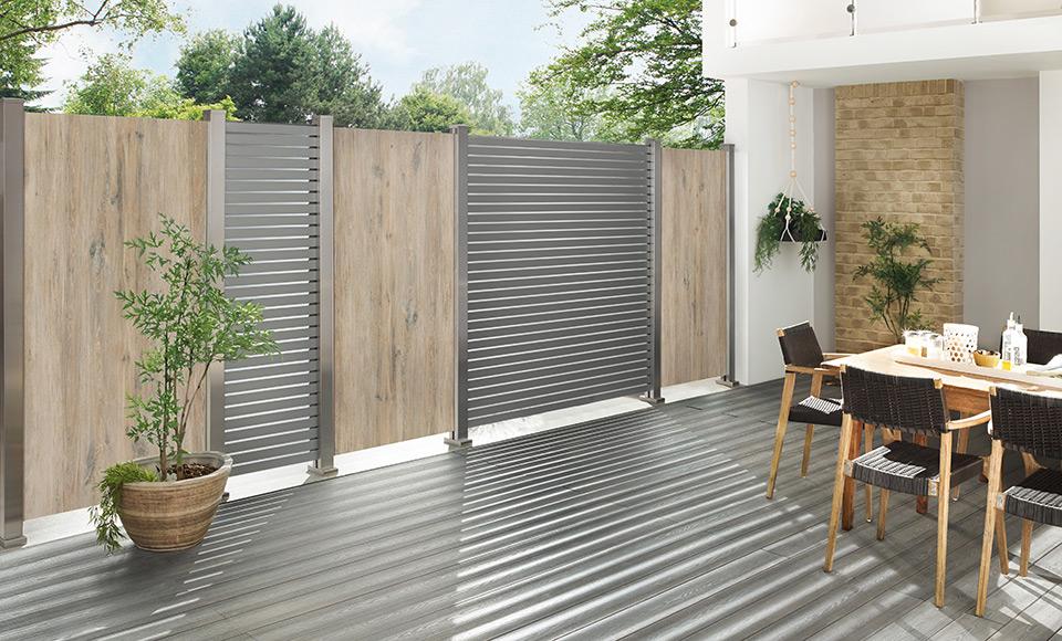 Sichtschutzelement aus Keramik und Metall | HolzLand Stoellger in Langenhagen