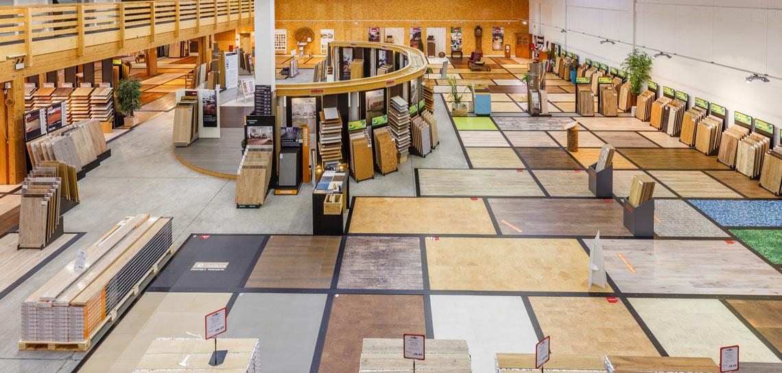 Ausstellung für Böden | HolzLand Bunzel